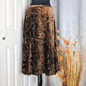 🆕 Coldwater Creek Brown skirt Sz PL